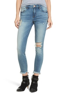 BP. Distressed Ankle Skinny Jeans (Destroy)