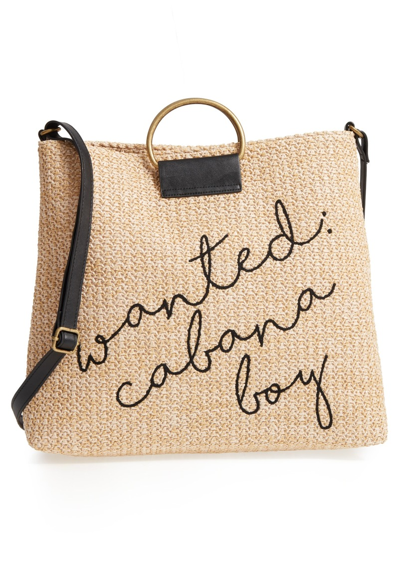 ecd77772d1a7 Brass Plum BP. Wanted  Cabana Boy Embroidered Straw Tote