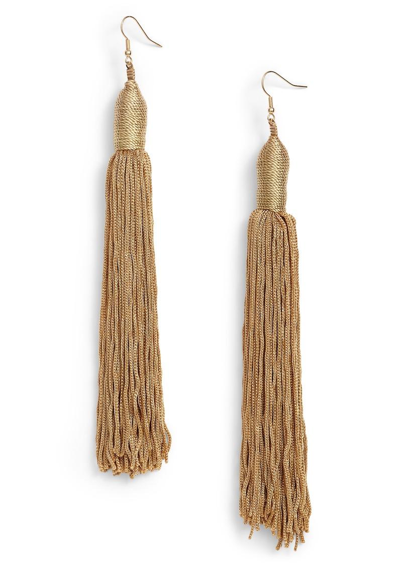 Fabric Tel Shoulder Duster Earrings