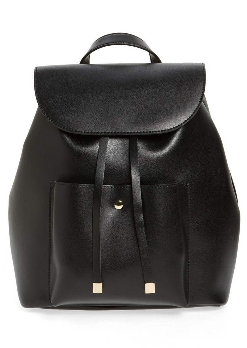 Brass Plum BP. Faux Leather Backpack
