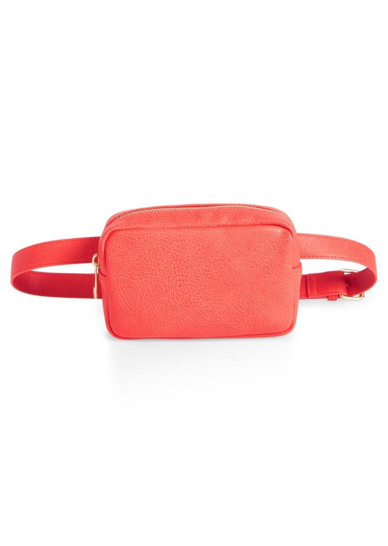 Brass Plum BP. Faux Leather Camera Belt Bag