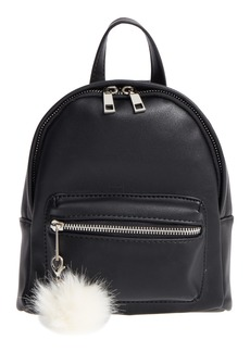 Brass Plum BP. Faux Leather Mini Backpack