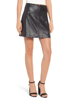 Brass Plum BP. Faux Leather Miniskirt