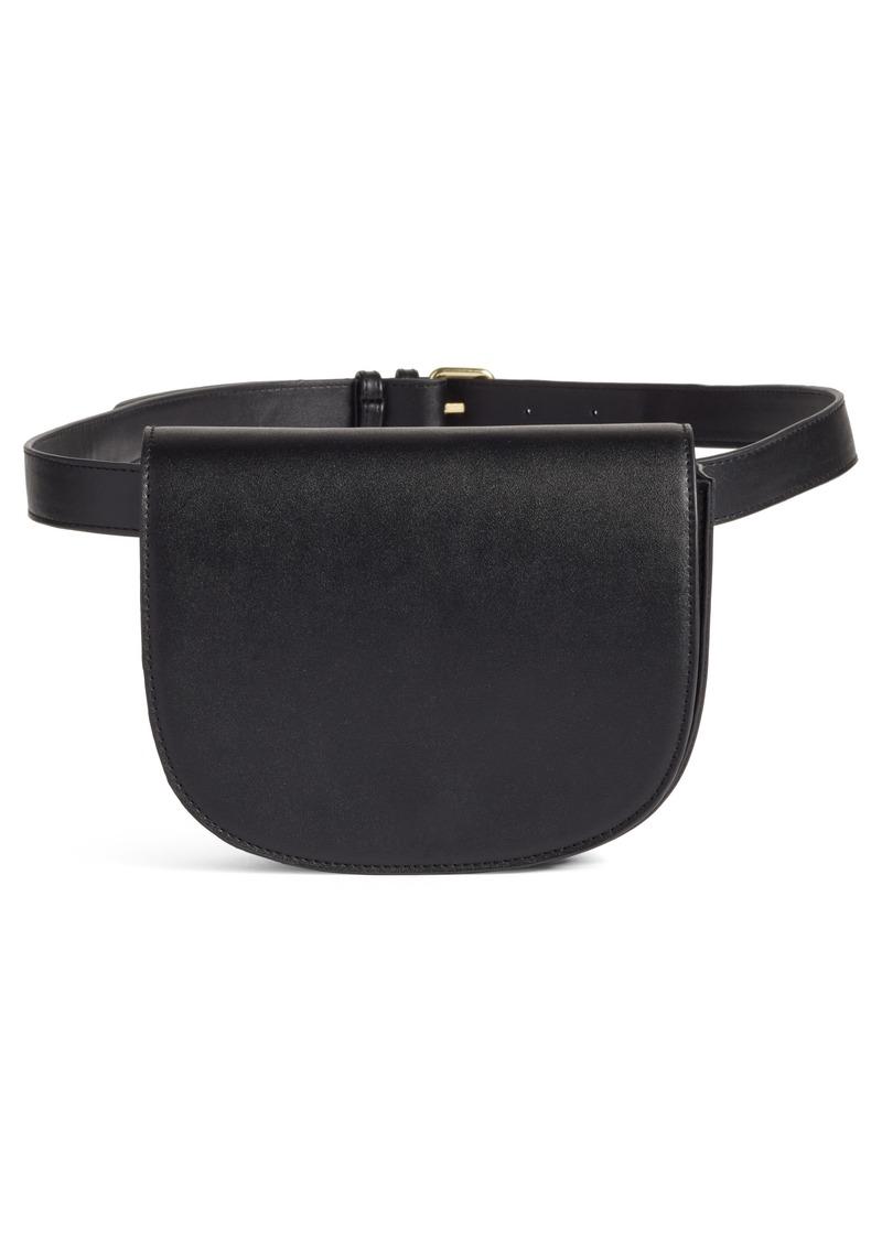 f3af2c205c71 Brass Plum BP. Faux Leather Saddle Belt Bag