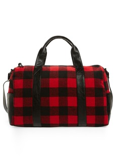 Brass Plum BP. Flannel Buffalo Check Duffel Bag