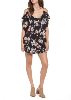 Brass Plum BP. Floral Cold Shoulder Romper