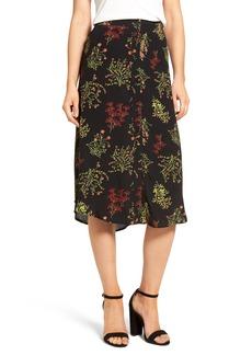 Brass Plum BP. Floral Midi Skirt