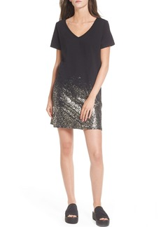 Brass Plum BP. Foil Detail T-Shirt Dress