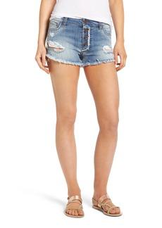 BP. Frayed Hem Denim Shorts
