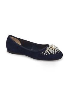 BP. Gracee Imitation Pearl Embellished Flat (Women)