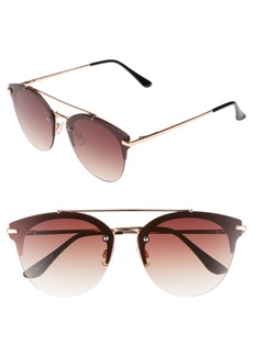 Brass Plum BP. Gradient Winged Sunglasses
