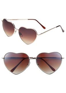 Brass Plum BP. Heart Shaped 58mm Sunglasses