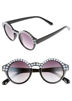 BP. 45mm Imitation Pearl Round Sunglasses