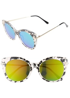 BP. Kitty 52mm Mirrored Cat Eye Sunglasses