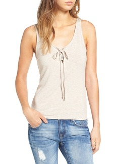 Brass Plum BP. Lace-Up Ribbed Tank