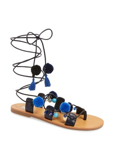 BP. Laney Pompom Lace-Up Sandal (Women)