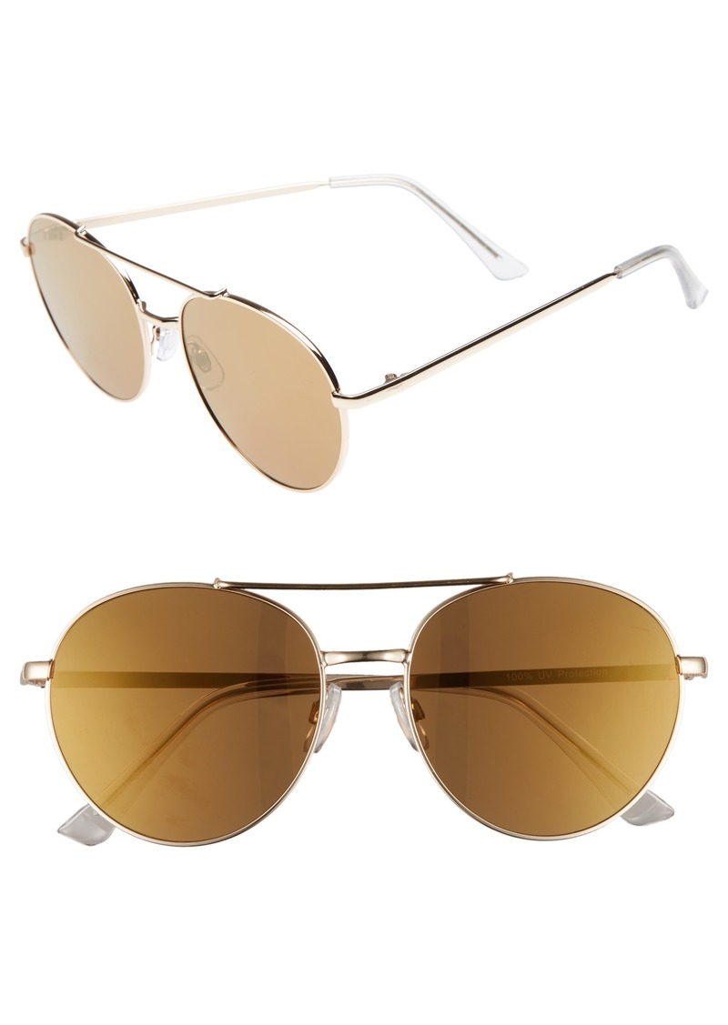 Brass Plum BP. Lucky Seven 55mm Metal Aviator Sunglasses