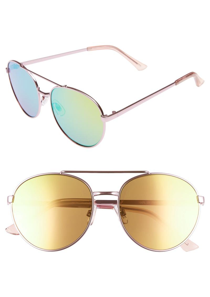 Brass Plum BP. Lucky Seven 55mm Metal Aviator Sunglasses