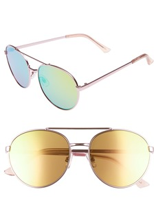BP. Lucky Seven 55mm Metal Aviator Sunglasses