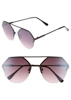 BP. Metal Flat Brow Bar Geometric Sunglasses