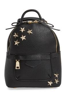 Brass Plum BP. Mini Star Stud Faux Leather Backpack