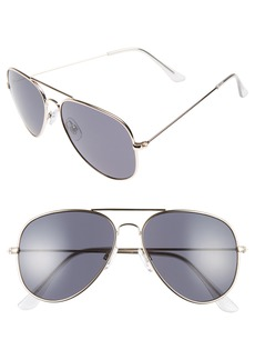Brass Plum BP. Mirrored Aviator 57mm Sunglasses