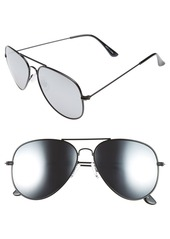 Brass Plum BP. Mirrored Aviator 57mm Sunglasses