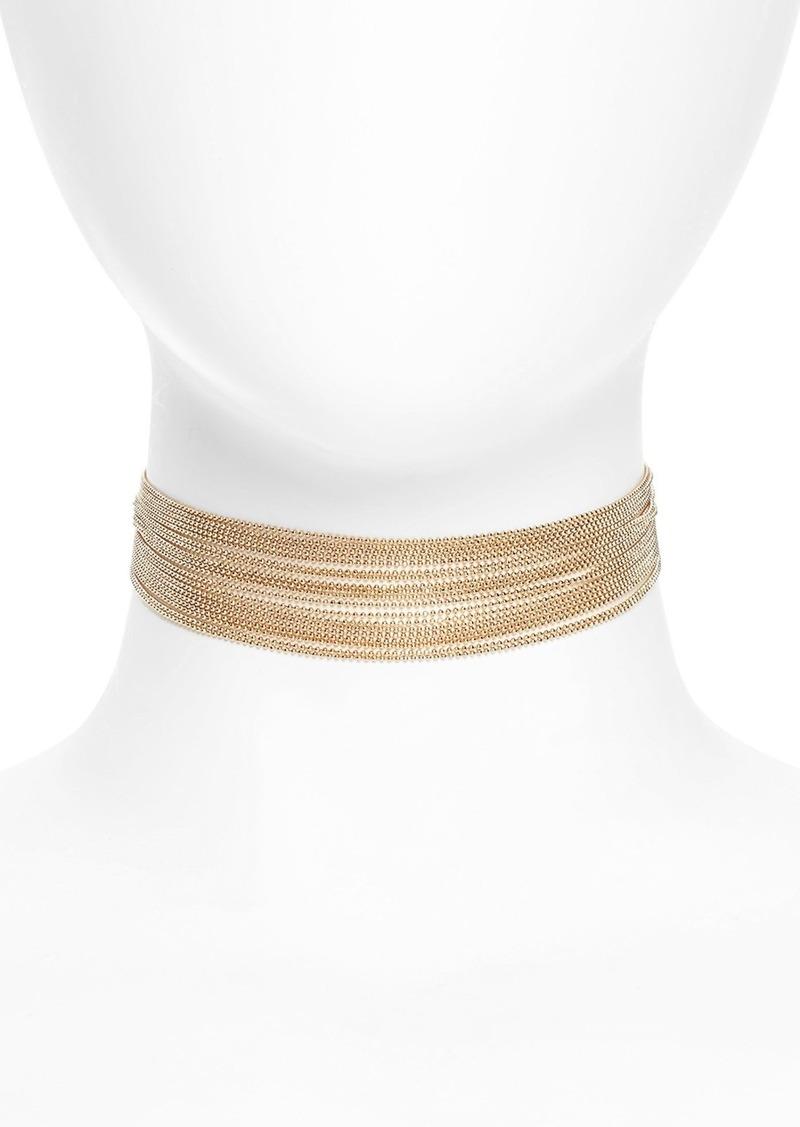 Brass Plum BP. Multi Row Chain Choker