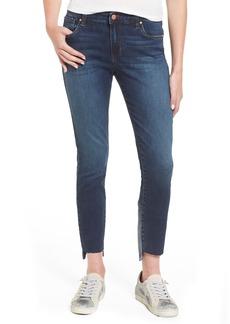 BP. Patch Detail Step Hem Skinny Jeans