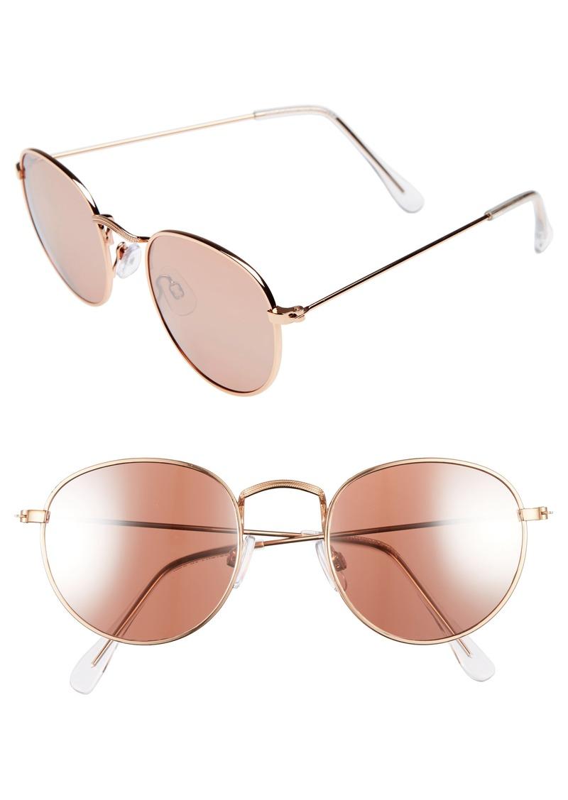 Brass Plum BP. Realm 50mm Round Sunglasses
