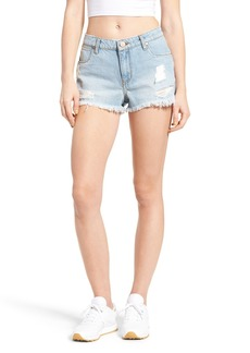 BP. Ripped Denim Cutoff Shorts (Light Indigo)