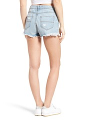 Brass Plum BP. Ripped Denim Cutoff Shorts (Light Indigo)