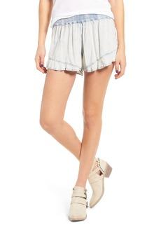 BP. Ruffle Chambray Shorts
