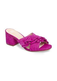 Brass Plum BP. Shari Ruffle Strap Slide Sandal (Women)
