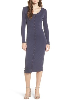 Brass Plum BP. Snap Front Henley Dress