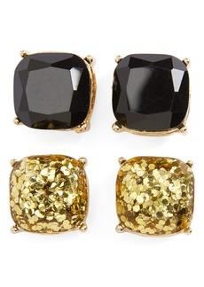 Brass Plum BP. Square Stud Earrings (Set of 2)