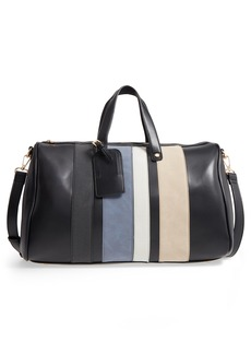 Brass Plum BP. Stripe Faux Leather Duffel Bag