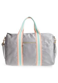 Brass Plum BP. Stripe Satin Duffel Bag