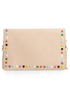 Brass Plum BP. Studded Faux Leather Clutch