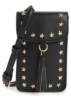 Brass Plum BP. Studded Faux Leather Phone Crossbody Bag