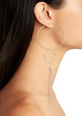 Brass Plum BP. Tassel Circle Drop Earrings