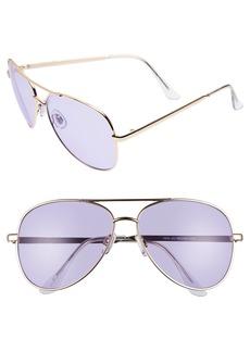 Brass Plum BP. Tinted Aviator Sunglasses