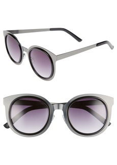 BP. Total Metal 49mm Round Cat Eye Sunglasses