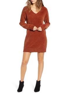 Brass Plum Chenille Sweater Dress