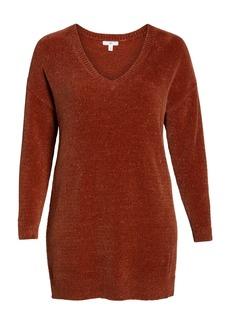 Brass Plum Chenille Sweater Dress (Plus Size)