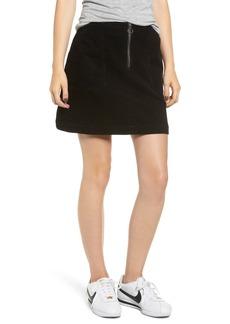Brass Plum Corduroy Utility Skirt