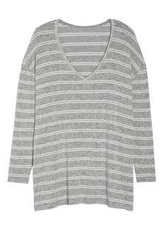 Brass Plum Cozy V-Neck Sweater (Regular & Plus Size)