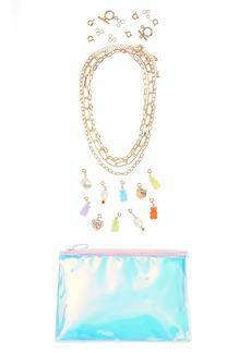 Brass Plum DIY Heart Charm Necklace Kit