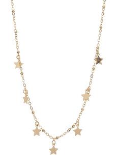Brass Plum Gold-Tone Mini Charm Dangle Pendant Chain Necklace