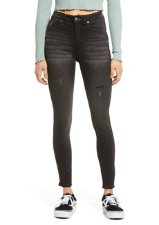 Brass Plum High Waist Ankle Skinny Jeans